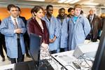 Najat Vallaud Belkacem en visite dans un lycée professionnel