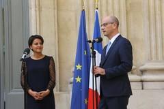 Passation de pouvoir entre Najat Vallaud-Belkacem et Jean-Michel Blanquer
