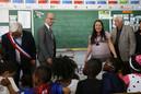 Visite de Jean-Michel Blanquer dans une école de Creil