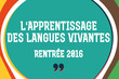 [Infographies] L'apprentissage des langues vivantes à la rentrée 2016