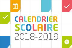 Calendrier scolaire 2018-2019