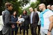 """Jean-Michel Blanquer et Laura Flessel à la rencontre de jeunes bénéficiaires du dispositif """"Été en herbe"""""""