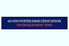60 000 postes dans l'Éducation : engagement tenu !