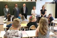 Rentrée scolaire 2015 : déplacement avec le président de la République à Pouilly-sur-Serre (Aisne)