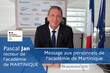 Message du recteur Pascal Jan aux personnels de l'académie de Martinique.