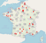 Carte interactive ParcourSup