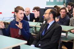 Rencontre avec des lycéens à l'occasion de l'ouverture de Parcoursup