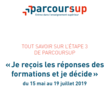 Phase d'admission Parcoursup 2019