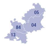 Carte des établissements de France