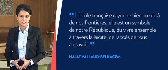 Najat Vallaud-Belkacem vous présente ses meilleurs vœux pour l'année 2016
