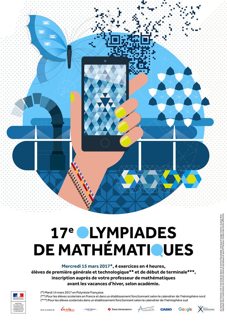 Affiche Olympiades de mathématiques 2017