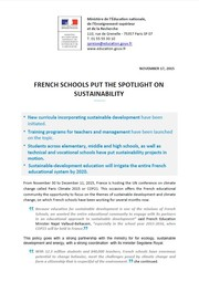 FRENCH SCHOOLS PUT THE SPOTLIGHT ON SUSTAINABILITY
