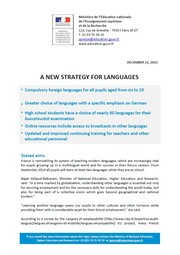 A new strategy for languages