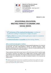 Vocational education : meeting France's economic and social needs