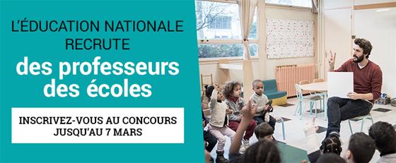 Ouverture des inscriptions au concours supplémentaire de professeur des écoles pour l'académie de Créteil