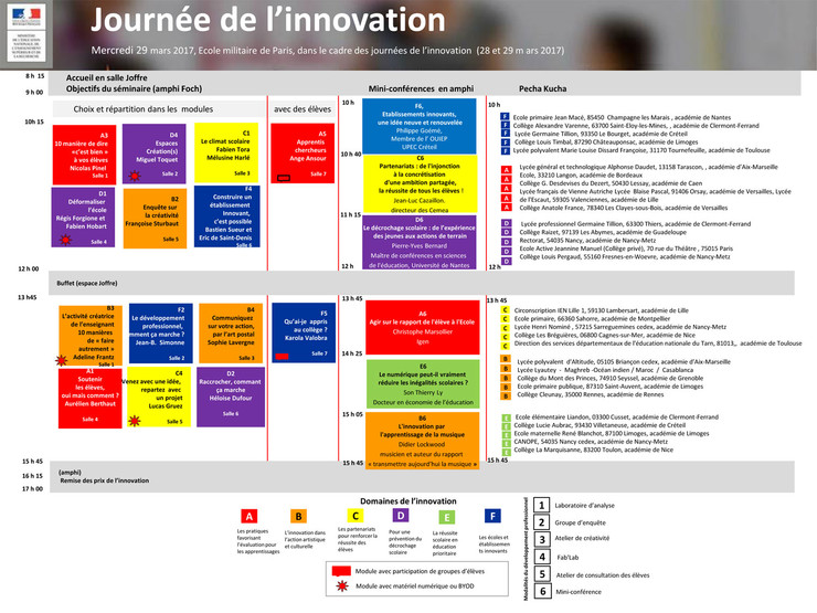 Programme journée de l'innovation 2017 - Éducation nationale
