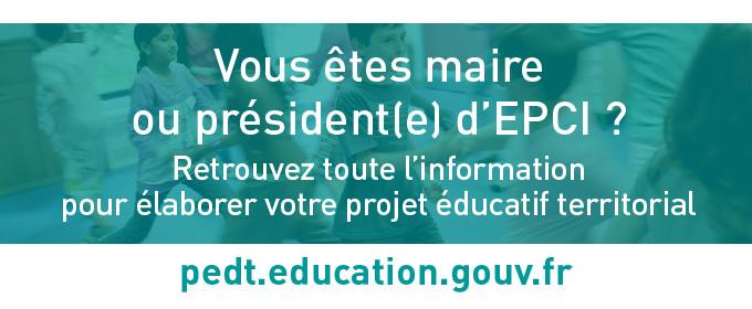 Un site internet pour accompagner la mise en place du projet éducatif territorial