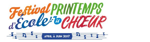 Festival Printemps de l'école en chœur - Avril à juin 2017
