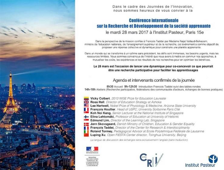 programme de la Conférence internationale sur la recherche et développement de la société apprenante