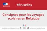 consignes voyages scolaires attentats belgique
