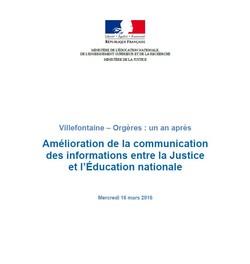 Amélioration de la communication des informations entre la Justice et l'Éducation nationale