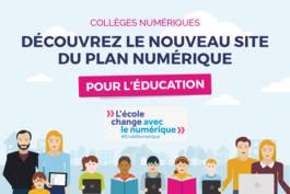 Un nouveau site sur le plan numérique pour l'éducation