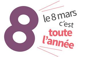 Logo de l'opération 8 mars toute l'année