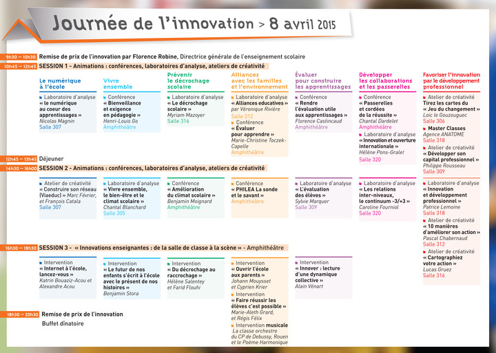 Journée Innovation 2015 programme
