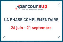 Parcoursup : phase complémentaire du 26 juin au 21 septembre