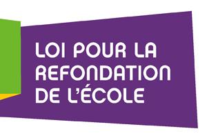 Publication au Journal officiel de la loi d'orientation et de programmation pour la refondation de l'École de la République
