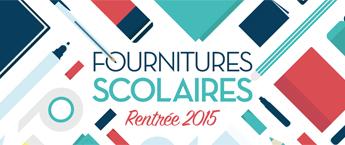 Fournitures rentree 2015