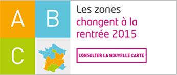 Nouvelles zones en 2015