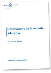 Mise en place de l'Observatoire de la réussite éducative
