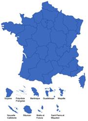 carte de France des résultats du concours impulsions