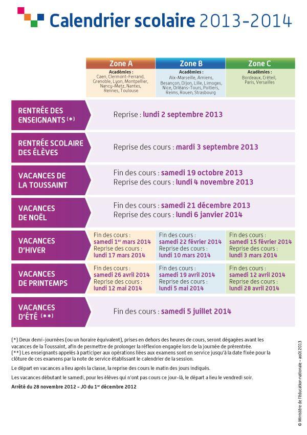 Education : Le nouveau calendrier scolaire 2015 2016  actualités