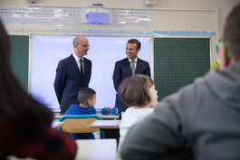 Rentrée scolaire : déplacement avec le président de la République