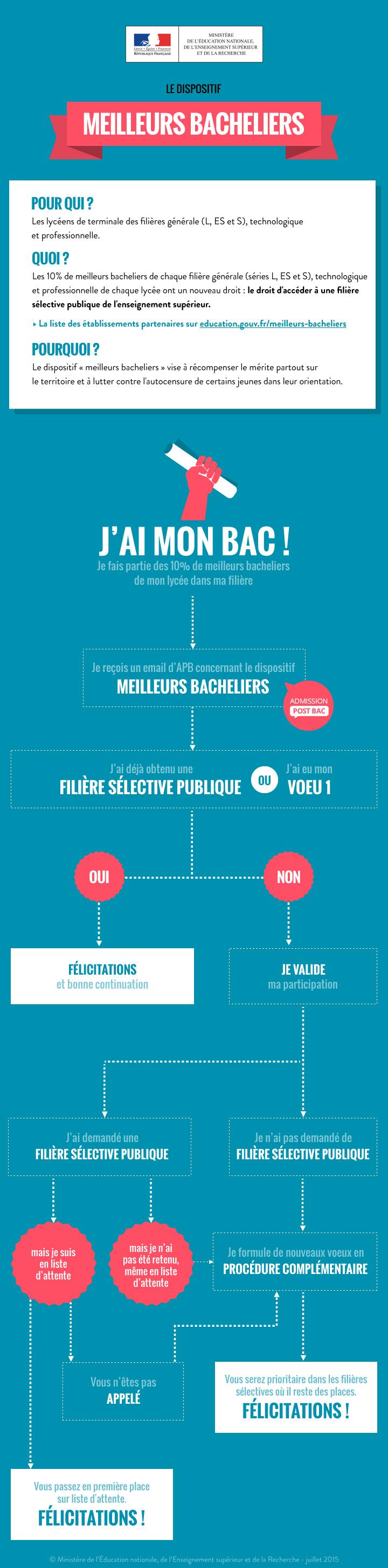 Infographie Meilleurs bacheliers - 2016