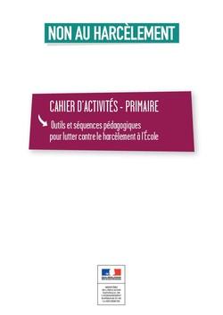 Visuel harcèlement - Cahier d'activités - primaire