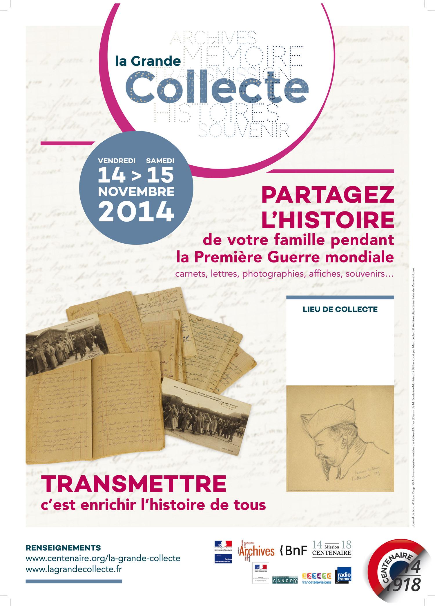 Affiche 2014 Grande Collecte