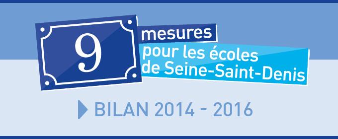 9 mesures pour les écoles de Seine-Saint-Denis : bilan 2014-2016