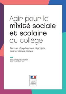 Couverture dossier mixite sociale 2016