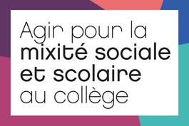 Agir pour la mixité sociale et scolaire au collège : retours d'expériences et projets des territoires pilotes
