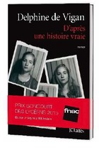 Couverture du prix Goncourt des lycéens 2015 par Delphine de Vigan