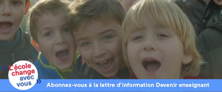 abonnez-vous à la lettre d'information devenir enseignant