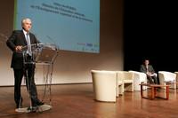 © Philippe Devernay / M.E.N.E.S.R - Le ministre prononce un discours à Saclay