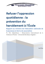 Refuser l&rsquo;oppression quotidienne : la pr&eacute;vention du harc&egrave;lement &agrave; l&rsquo;&Eacute;cole.