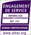 Certificat de l'activité de réponse aux demandes statistiques