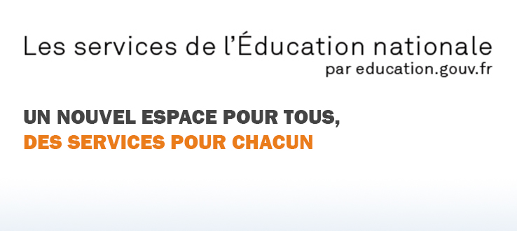 Les services en ligne de l'Education nationale