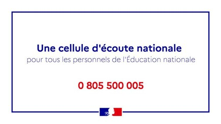 CELLULE ECOUTE EDUCATION NATIONALE