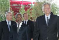 Inauguration du musée du quai Branly le 20 juin 2006 à Paris